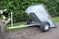 Galvanised Tipping Dump Trailer with Wide Profile Wheels